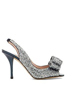 kate spade new york Charm Heel in Blue Bicolor Glitter