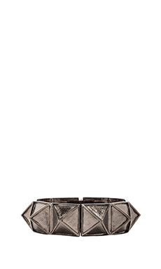 Kenneth Jay Lane Pyramid Bangle in Gunmetal
