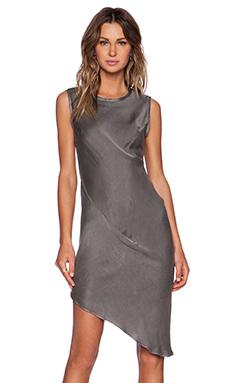 KES Asymmetric Drape Dress in Graphite