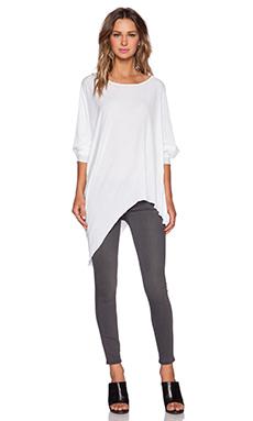 KES Asymmetric Tunic in White