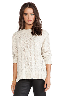 Kingsley London Cable Knit Sweater in Ivory