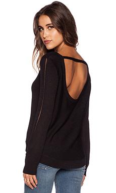 Kingsley Open Back Sweater in Black