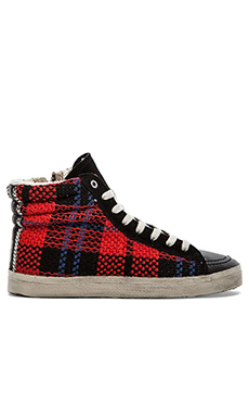 KIM & ZOZI Plaid Sneaker in Red