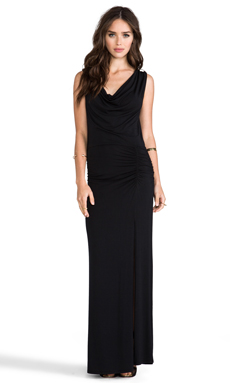 krisa Drape Maxi in Black
