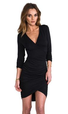 krisa Long Sleeve Cross Dress in Black