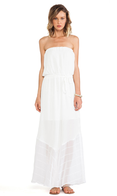 krisa Tube Maxi Dress in White