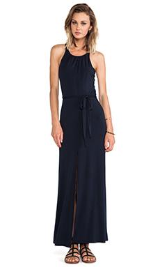 krisa Halter Maxi Dress in Black