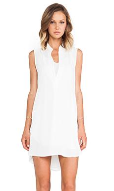 krisa Split V Mini Dress in Ivory