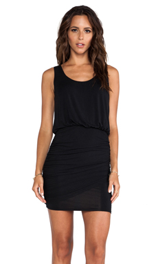 krisa Twisted Mini Dress in Black