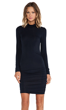 krisa Long Sleeve Turtleneck Dress in Black