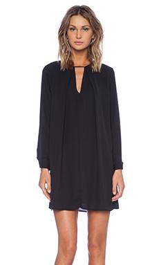 krisa Long Sleeve Swing Dress in Black