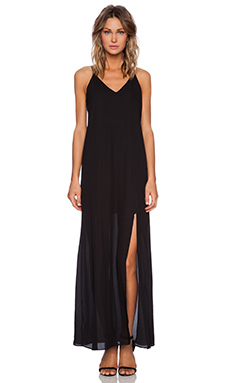 krisa Cami Maxi Dress in Black