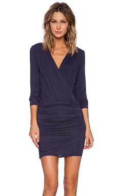 krisa Long Sleeve Ruched Dress in Star