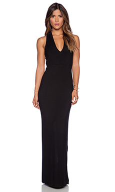 krisa Cross Back Maxi Dress in Black