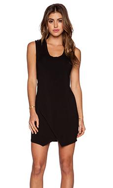 krisa Asymmetrical Tank Dress in Black