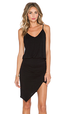 krisa Asymmetrical Cami Dress in Black