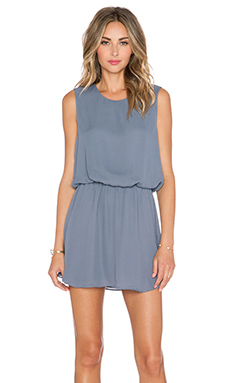 krisa Flounce Mini Dress in Denim