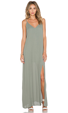 krisa Cami Maxi Dress in Moss