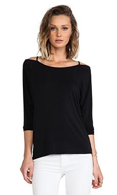 krisa Cutout Pullover Sweater in Black