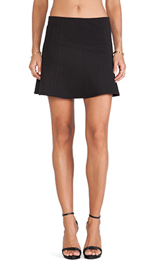 krisa Twill Flip Skirt in Black