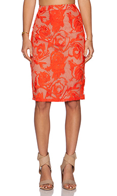 krisa Pencil Skirt in Cannes Lace Print