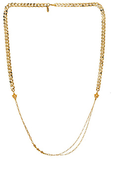 Karen London Batik Chain Necklace in Gold
