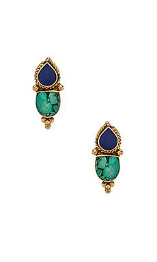 Karen London Free Bird Earrings in Lapis & Turqoise