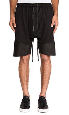 knomadik by Daniel Patrick Roaming Jogger Shorts in Black