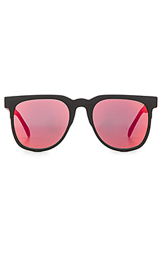 Komono The Mirror Series Riviera in Black Rubber & Red Mirror