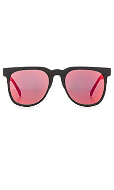 Komono The Mirror Series Riviera in Black Rubber & Red Mirror
