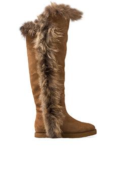 Koolaburra Sasha II with Fox Fur in Chestnut
