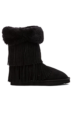 Koolaburra Haley II Boot with Fur in Black