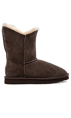 Koolaburra Double Halo Short Boot with Fur in Cappuccino