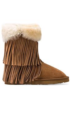 Koolaburra Haley II Boots with Twinface Sheepskin in Chestnut