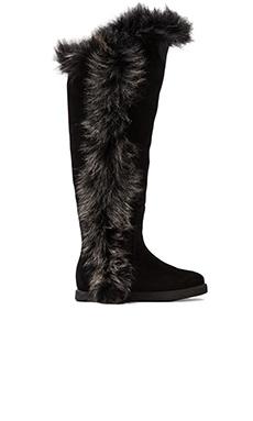 Koolaburra Sasha II with Rabbit Fur in Black