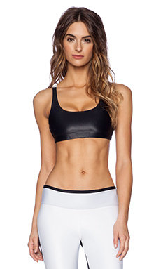 koral activewear Revolve Sports Bra in Black & White