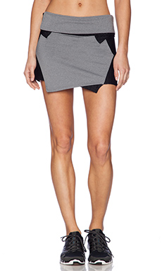 koral activewear Angle Skort in Heather Grey & Black