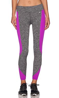 koral activewear Curve Crop Legging in Heather Grey & Orchid