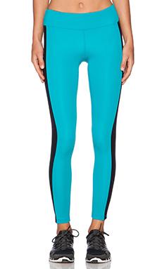 koral activewear Dynamic Duo Crop Legging in Aqua & Black