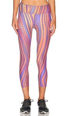 koral activewear Range Capri Legging in Reptilia & Sapphire