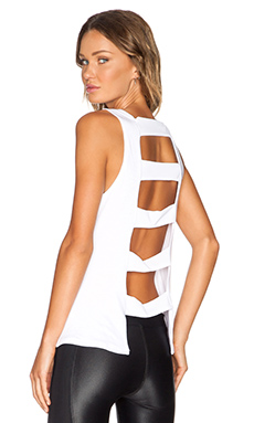 koral activewear Spectrum Tank in White & White