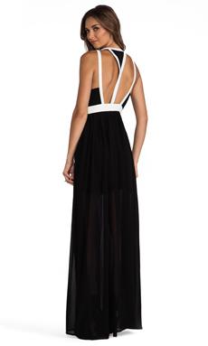 keepsake Eyes Wide Open Maxi Dress in Black/Ivory