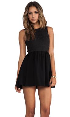 keepsake I'm His Girl Dress in Black Jacquard/Black