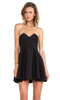 keepsake Three Dimensions Dress in Black