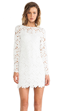 keepsake Reach for the Sun Long Sleeve Dress in Ivory Lace