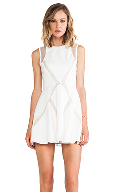 keepsake Shine On Mini Dress in Ivory