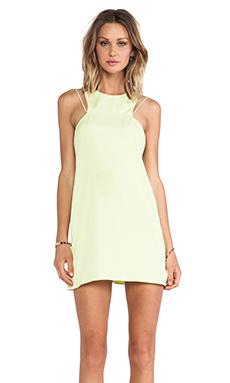 keepsake Countdown Tank Dress in Lime