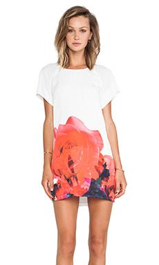 keepsake Little Talk Dress in Ivory Rose Cluster Print