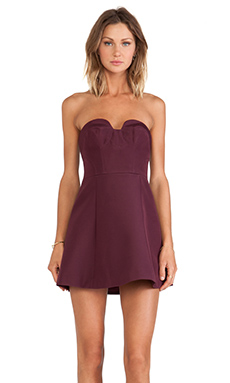 keepsake Hearts on Fire Mini Dress in Fig