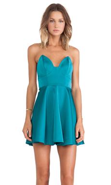 keepsake Stolen Hearts Mini Dress in Emerald